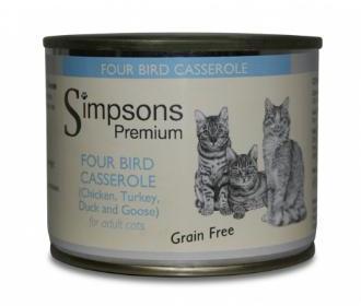 Simpsons Four Bird Casserole Cat Food