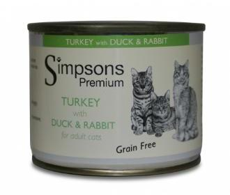 Simpsons Turkey with Duck & Rabbit Cat Food