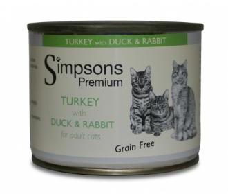 Simpsons Turkey with Duck & Rabbit Cat Food