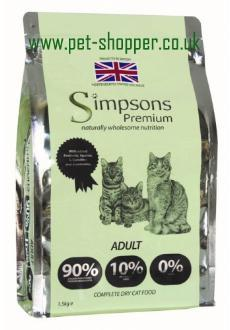 Simpsons Adult Cat Food Dry 1.5kg