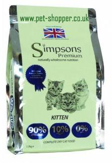 Simpsons Kitten Food Dry 1.5kg