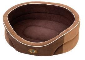 Manhattan Dog Bed Beige and Brown 53cm
