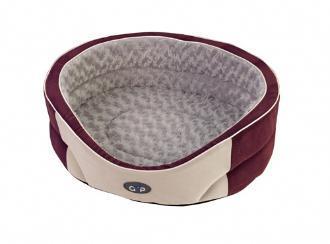 Manhattan Dog Bed Plum and Silver 61cm