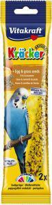 Vitakraft Budgie Egg and Grass Seeds Sticks 2 pack
