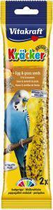 Vitakraft Budgie Egg and Grass Seeds Sticks 2 pack