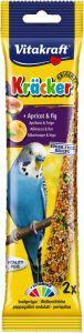 Vitakraft Budgie Apricot and Fig Sticks  2 pack