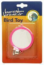 Budgie Mirror with Bell on Chain