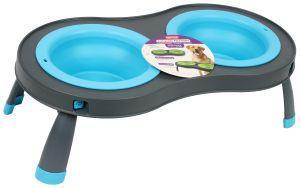 Dexas Popware Double Elevated Feeder Blue Large