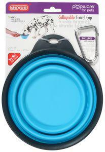 Popware Collapsible Travel Cup with Bottle Holder Blue Large