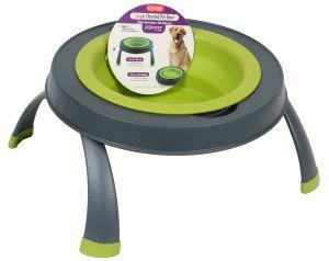 Dexas Popware Double Elevated Feeder Green Large