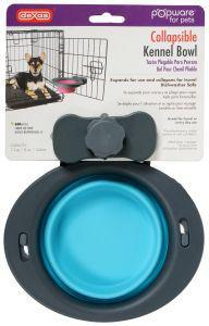 Dexas Popware Collapsible Kennel Bowl Blue Small