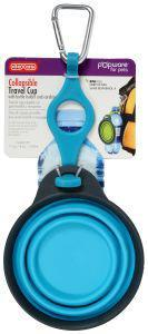 Dexas Popware Collapsible Travel Cup with Bottle Holder Blue