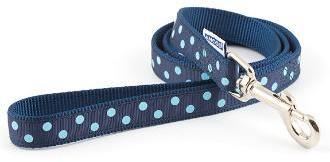 Ancol Nylon Vintage Polka Dot Lead Blue 1mx19mm