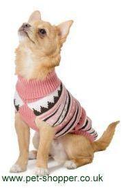 Ancol Alpine Knit Dog Sweater Pink Small