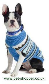 Ancol Alpine Knit Dog Sweater Blue Medium
