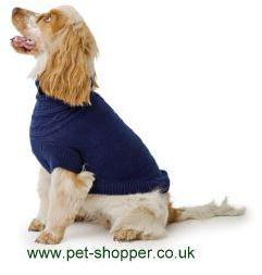 Ancol Cable Knit Dog Sweater Blue Medium