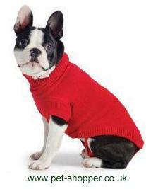 Ancol Cable Knit Dog Sweater Red Medium