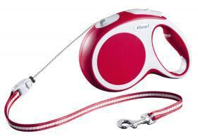 Extending Dog Lead Flexi Vario Long Red 8m For Dogs up to 20 Kg