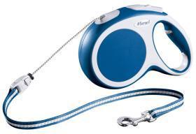 Extending Dog Lead Flexi Vario Long Blue 8m For Dogs up to 20 Kg