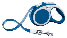 Extending Dog Lead Flexi Vario Mini Blue 3m For Dogs up to 12 Kg