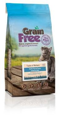 Taste of Nature Grain Free Cat Food Turkey 2kg