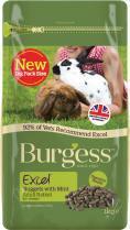 Burgess Excel Adult Rabbit Nuggets With Mint 1kg