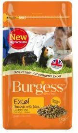Burgess Excel Adult Guinea Pig Nuggets With Mint 1kg