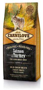 Carnilove Salmon and Turkey Large Breed Adult Dog  Food 12kg
