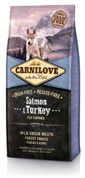 Carnilove Salmon and Turkey Puppy Food 1.5kg