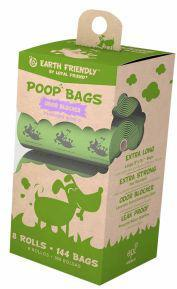 Earth Friendly Poop Bags Lavender - 8 Rolls of 15 Bags
