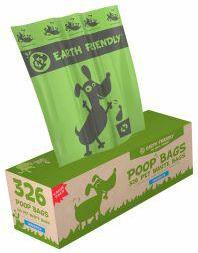 Earth Friendly Poop Bags Unscented - 326 Bags on Bulk Roll