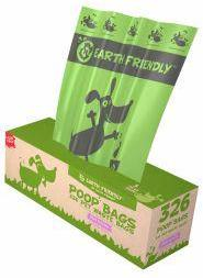 Earth Friendly Poop Bags Lavender Scented - 326 Bags on Bulk Roll