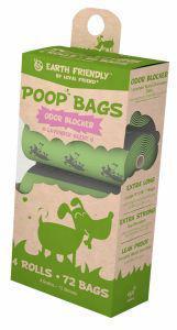 Earth Friendly Poop Bags Lavender - 4 Rolls of 18 Bags