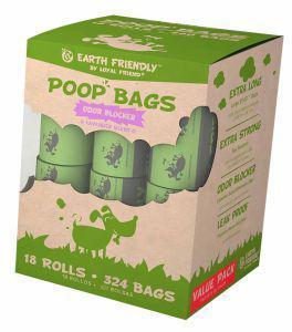 Earth Friendly Poop Bags Lavender - 18 Rolls of 18 Bags