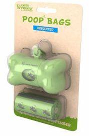 Earth Friendly Poop Dispenser with 36 Unscented Bags