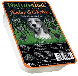 Nature Diet Turkey and Chicken Dog Food x 18
