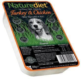 Nature Diet Turkey and Chicken Dog Food x 18