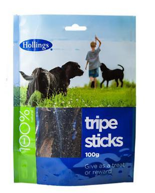Hollings Tripe Sticks Dog Treats 100g