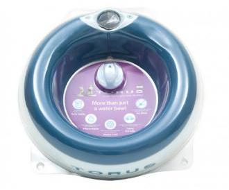 Torus Dog Water Bowl Charcoal Large