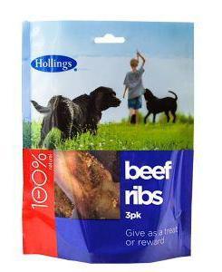 Hollings Beef Ribs 10 x Packs of 3