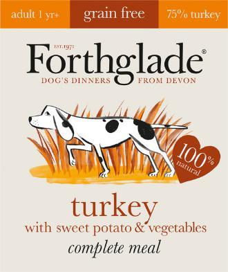 Forthglade Lifestage Grain Free Turkey with Sweet potato 395g 7 pack