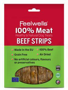 Feelwells 100% Meat Treats Beef Strips 100g