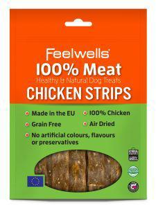 Feelwells 100% Meat Treats Chicken Strips 100g