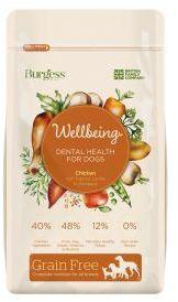 Burgess Wellbeing Dental Health Chicken Dog Food 1.5kg