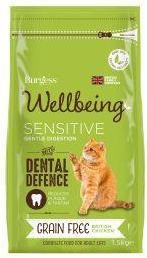 Burgess Wellbeing Cat Food Sensitive 1.5kg