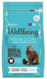 Burgess Wellbeing Cat Food for Skin & Coat 1.5kg