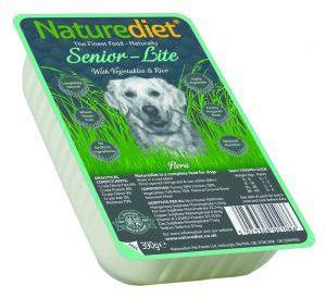 Nature Diet Senior Lite Dog Food 390g X 18