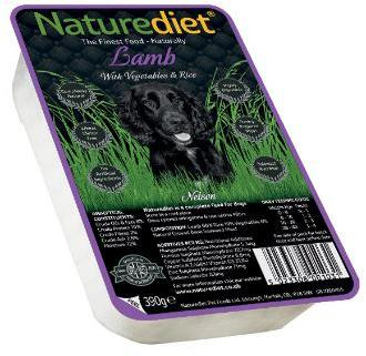 Nature Diet Lamb and Rice Dog Food 18 X 390g