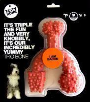 Nylon Tastybone Trio Bone Bacon Large