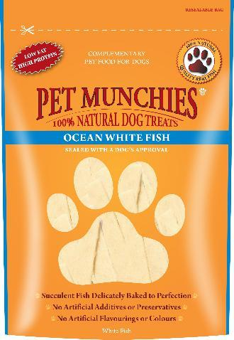 Pet Munchies Ocean White Fish Strips Dog Treats
